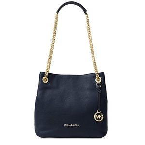 Michael Kors Jet Set Chain Navy Large Tote